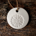 3 X CLAY LACE TAGS DECORATIONS TEACHER GIFT CHRISTMAS EMBOSSED