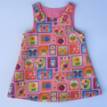 Miss Pink Blossom Pinafore Dress - size 1