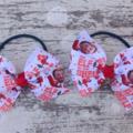 """3"""" Elf On The Shelf Bow Hair Ties"""