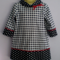 Houndstooth and Spot Retro Dress