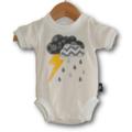 NEW SIZE 0000 Handmade Baby Bodysuit... Storm Cloud