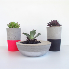 Trio - Concrete Succulent Planter Set - Urban Decor