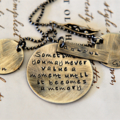 Quote Necklace - Mother Quote Jewellery - Personalised Jewellery - Gift For Her