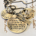 Mother Jewellery - Quote Necklace - Personalised Jewellery - Gift For Mom