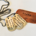 Dog Tag Necklace - Gift For Dad - Dad Gift Australia - Rustic Personalised Dad