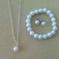 Little Girl Pearl Jewellery Gift Set - Necklace, Studs