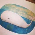 Whale Illustration Art Print - A4