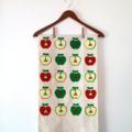 Love Apples tea-towel. Australian made hand printed on hemp - organic cotton