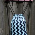 Corded Drawstring Swim bag/ Beach bag, PUL, Waterproof.