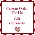 Gift certificate for LIZ
