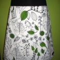 Skirt with Birds & Bamboo Stretch Waist