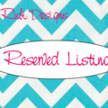 Reserved Listing for Leanne