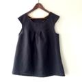 Ruby Top~Black Linen
