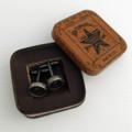 Vintage typewriter-key cufflinks in vintage Star Brand tin - 'asterisk' keys