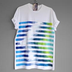 REWIND. 100% cotton T shirt. Hand painted. Unique t shirts. T shirt for men