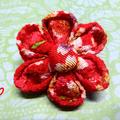Japanese Kimono fabric Floral Brooch (b&c)