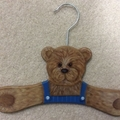 Painted Bear Baby Coathanger