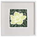 "Magnolia Bloom Hand-made Linocut Original Print 6""x6"""