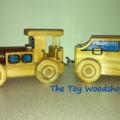 Wooden Toy Train - 2 piece - Loco & Coal Tender
