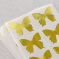 24 Metallic Gold Butterfly Stickers, Gold Stickers, Butterfly Labels