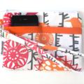 Pink and Orange Bird Design Wristlet Pouch Purse