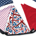 Union Jack, Stars & Stripes Flag Bunting. Party, Shop or Boys Bedroom Banner