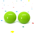 Lime green vintage glass studs - Surgical steel posts