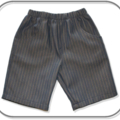 Boys Pinstripe Denim Shorts