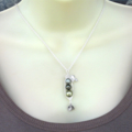 My Family - Sweet Peas In A Pod Personalized Hand Stamped Necklace