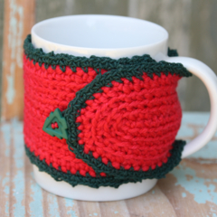 Zero Waste Christmas Gift Reusable Red Mug Cosy Jar Cosy Pencil Holder Cosy