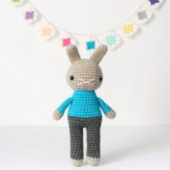 crochet rabbit toy, amigurumi plushie bunny .. REYNOLD