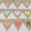 PERSONALISED BUNTING CUSTOM BANNER BOHO HESSIAN BURLAP RUSTIC WEDDING BIRTHDAY