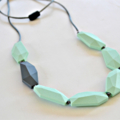 Silicone Teething Necklace -  Flat Geo  - Farrah