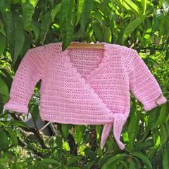 CUSTOM ORDER for Jenniferh 2 crocheted ballet cardigans