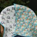 Baby quilt, bassinet, stroller, pram, tummy time, daycare -