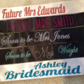 STUNNING high quality CUSTOM glitter sashes for brides to be, bridesmaid.