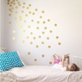 60 Gold Polka Dot Wall Decal Stickers