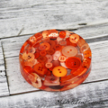Orange Buttons Drink coasters / paperweights - SINGLE - Resin