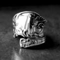 Patterned Swirl Spoon Ring