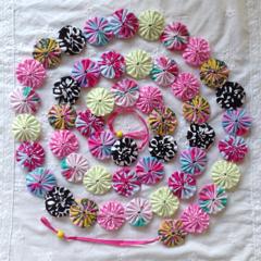 Designer Fabric Yoyo Bunting Baby Girl Bedroom or Home ...