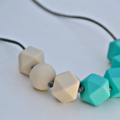 Silicone Teething Necklace- Geo Rocks