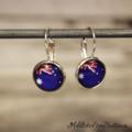 Australia Day - Australian Flag Glass Button - Drop / Loop /Dangle Earrings