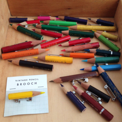 Genuine vintage pencil badges/brooches