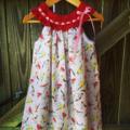 Birdy  Dress,  size 3  sweet ,crocheted yoke