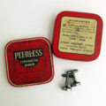 Typewriter-key cufflinks in a vintage tin - black '1' and '8' keys, happy 18th