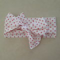 CUSTOM LISTING FOR WORLEDSHOESHOPPER2 x red and white polka dot retro head wraps