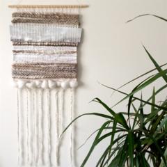 Hand woven wall hanging, tapestry, boho weaving - 'Celeste'