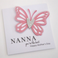 Handmade Card - NANNA you're the best, Happy Mother's Day - Pink -Personalised