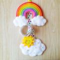 Rainbow & Sunny Cloud Hair Clip Holder