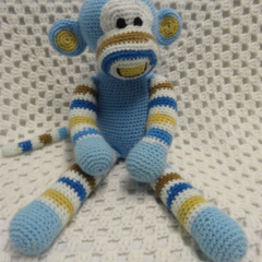 Monkey, Baby Boy Gift, Baby Safe Toy, Boy Baby Shower Gift
